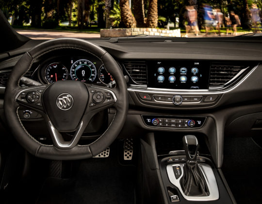Model year 2018 Buick Regal GS front cockpit.