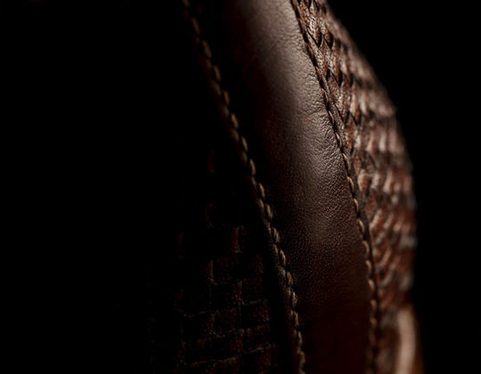 MDM Moral Code shoes, style The Camden: Woven Blucher detail image.